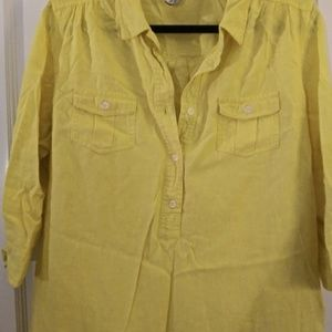 5a8abe5a6775f Old Navy bright yellow linen beach cover up dress